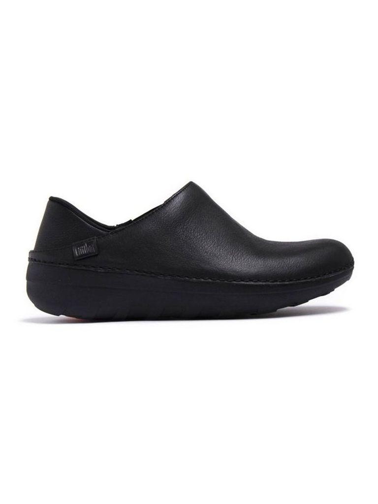 Black Fitflop Superloafer Leather All Black