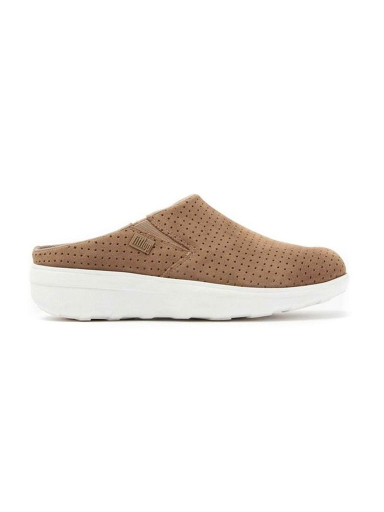Brown Fitflop E2409 Loaff Clog Perf  Soft