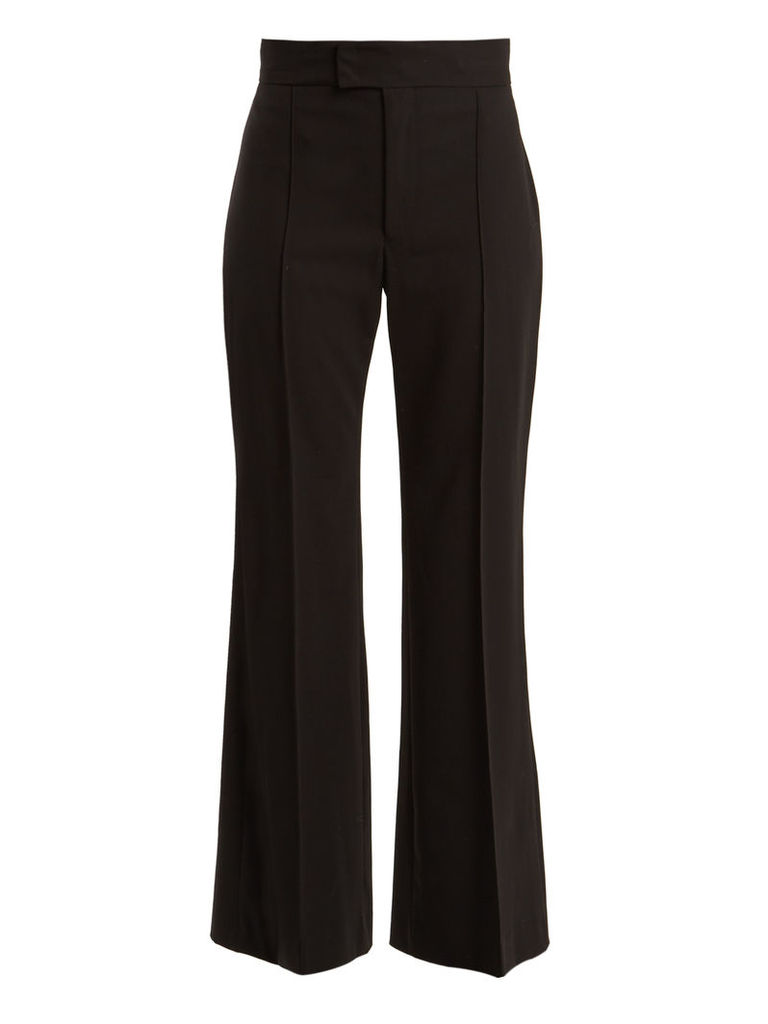 Mansfield high-rise wide-leg wool trousers