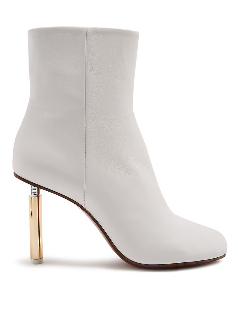 Lighter-heel leather ankle boots