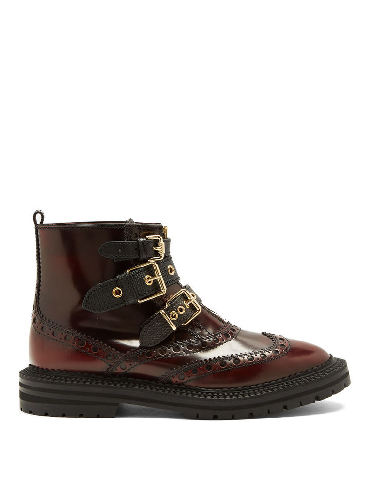 Everdon brogue-detail leather ankle boots