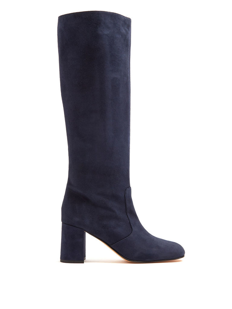 Lune suede knee-high boots