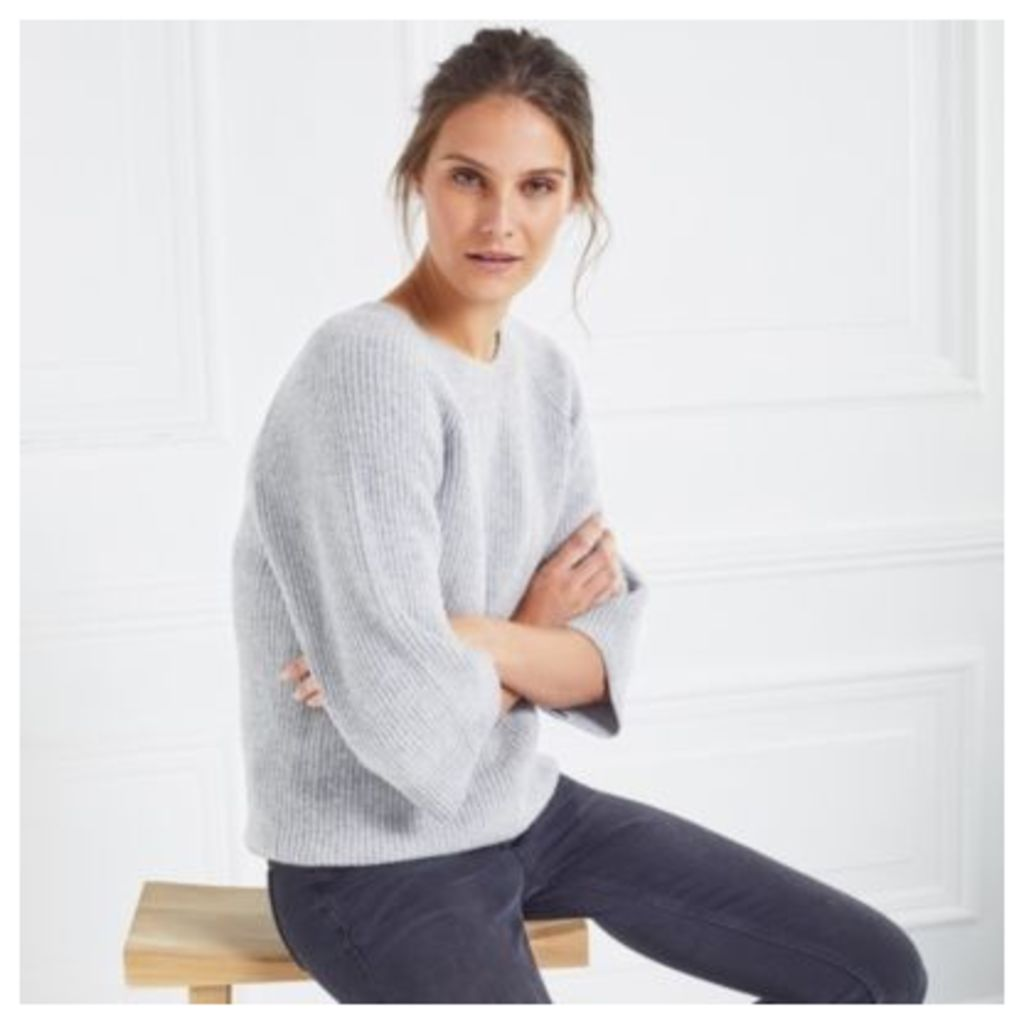 Wide Sleeve Rib Jumper