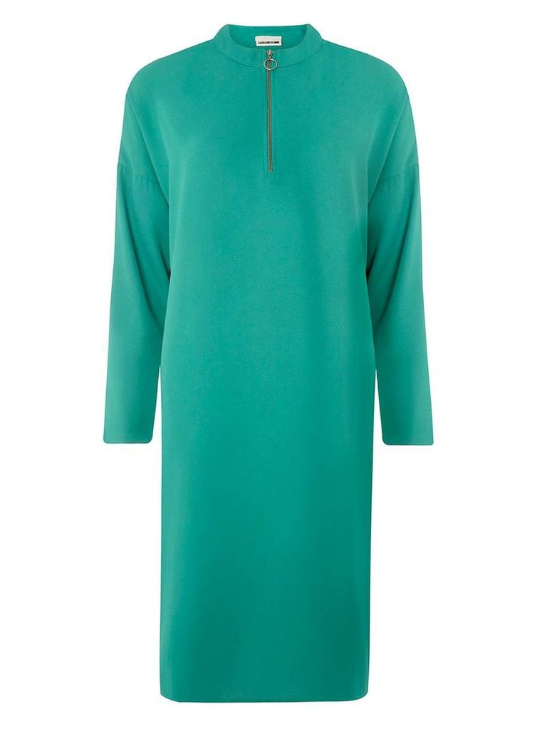 Womens **Noisy May Green Zip Front Dress- Green