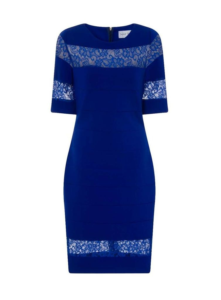 Womens **Paper Dolls Cobalt Lace Dress- Cobalt