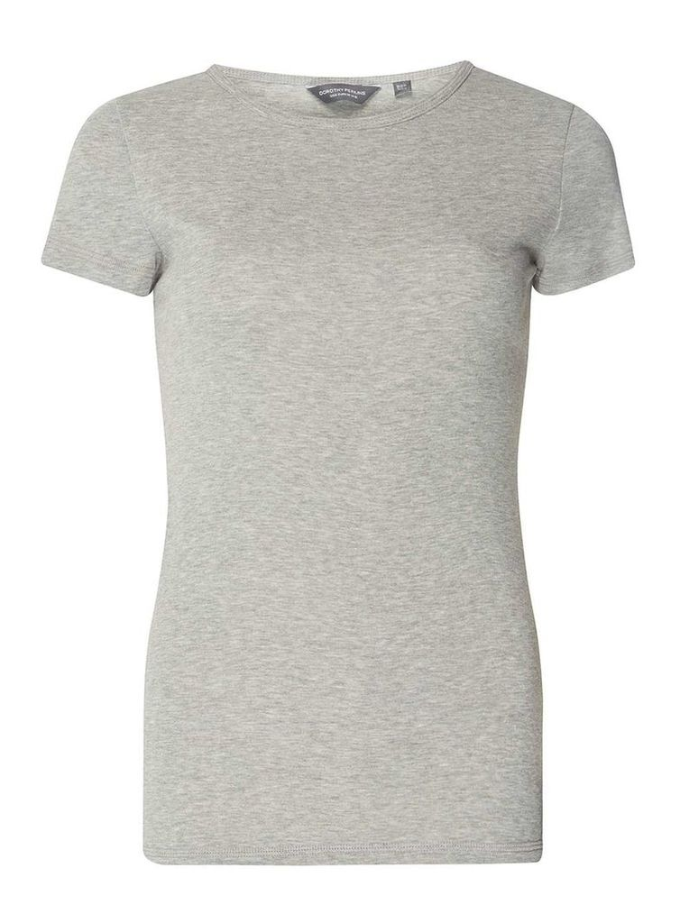 Womens **Tall Grey Cotton T-Shirt- Grey