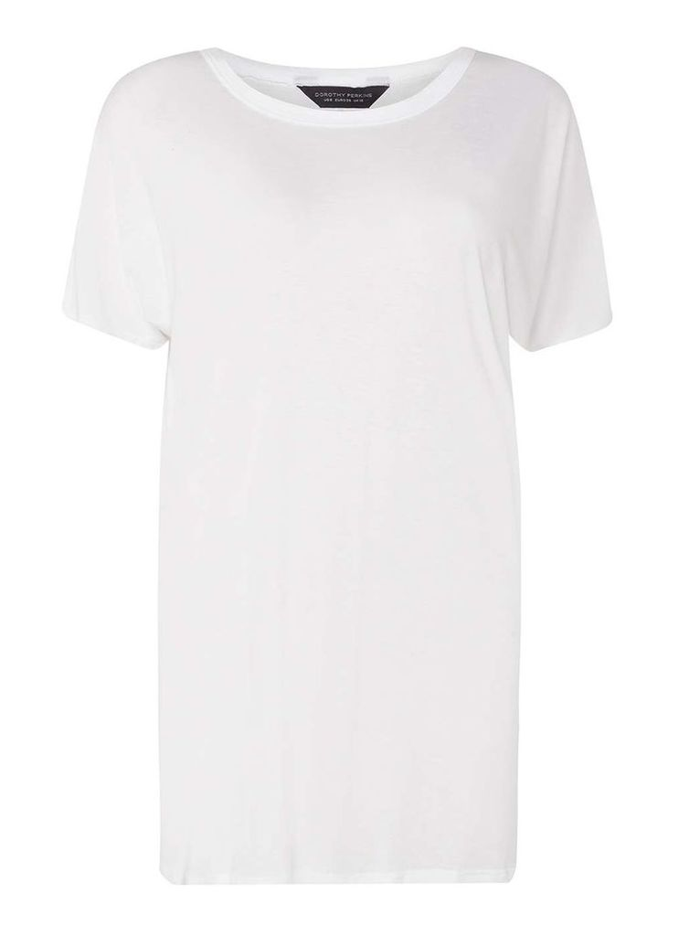 Womens **Tall White Relaxed T-Shirt- White