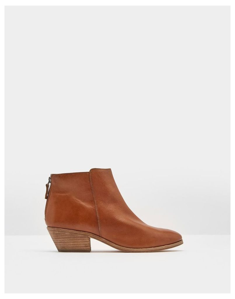 Tan Langham Ankle Boot  Size Adult 7 | Joules UK