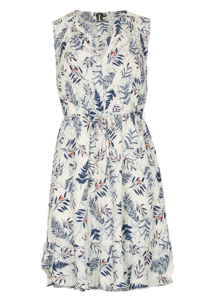 Womens *Izabel London White Fit & Flare Dress- White