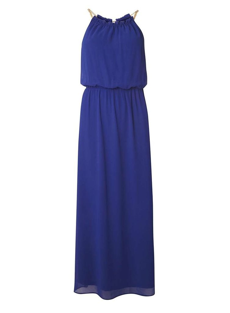 Womens Petite Cobalt Chain Maxi Dress- Cobalt