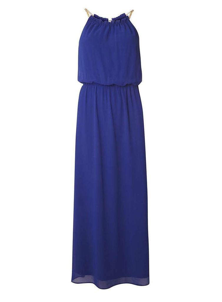 Womens Petite Cobalt Chain Maxi Dress- Cobalt