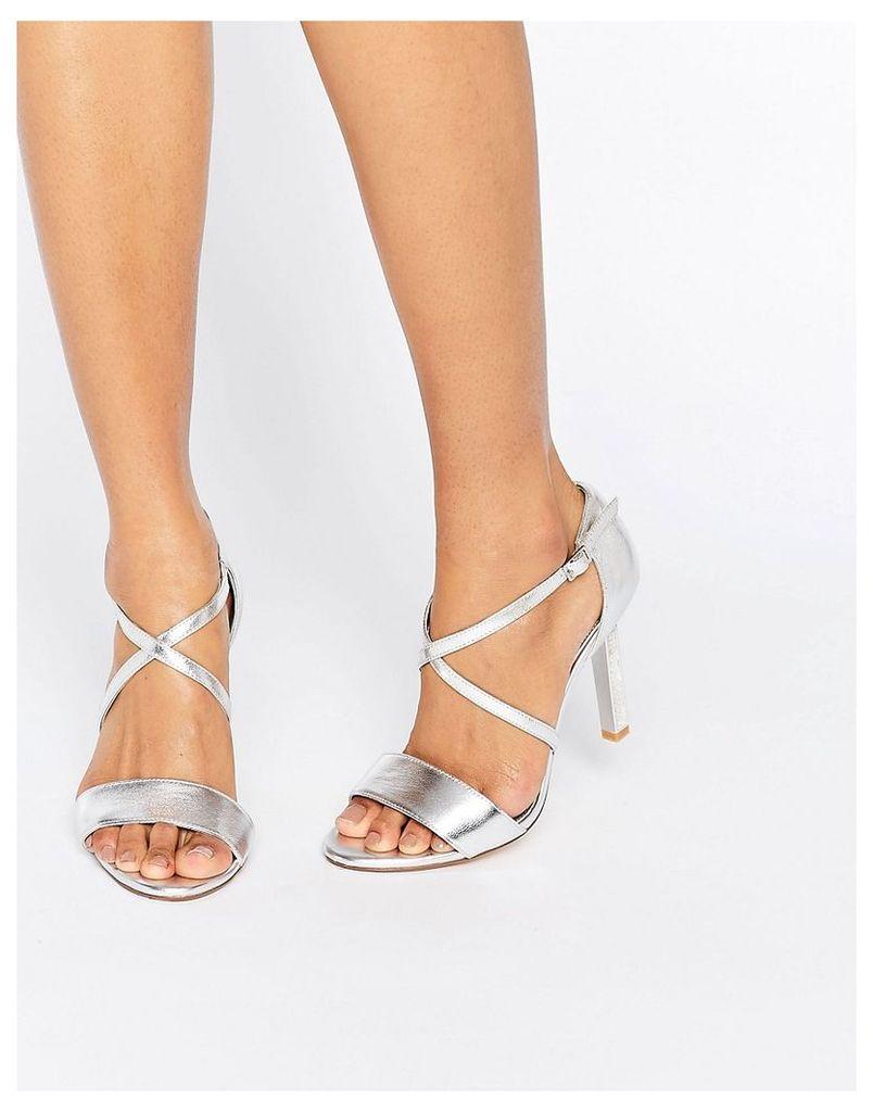 Dune Bridal Mabel Embellished Heel Sandals - Silver