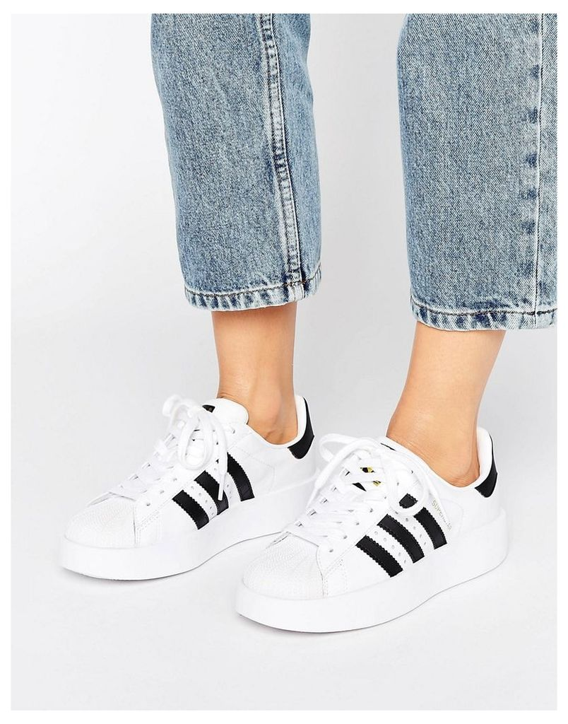adidas Originals Bold Double Sole White And Black Superstar Trainers - Ftwr white