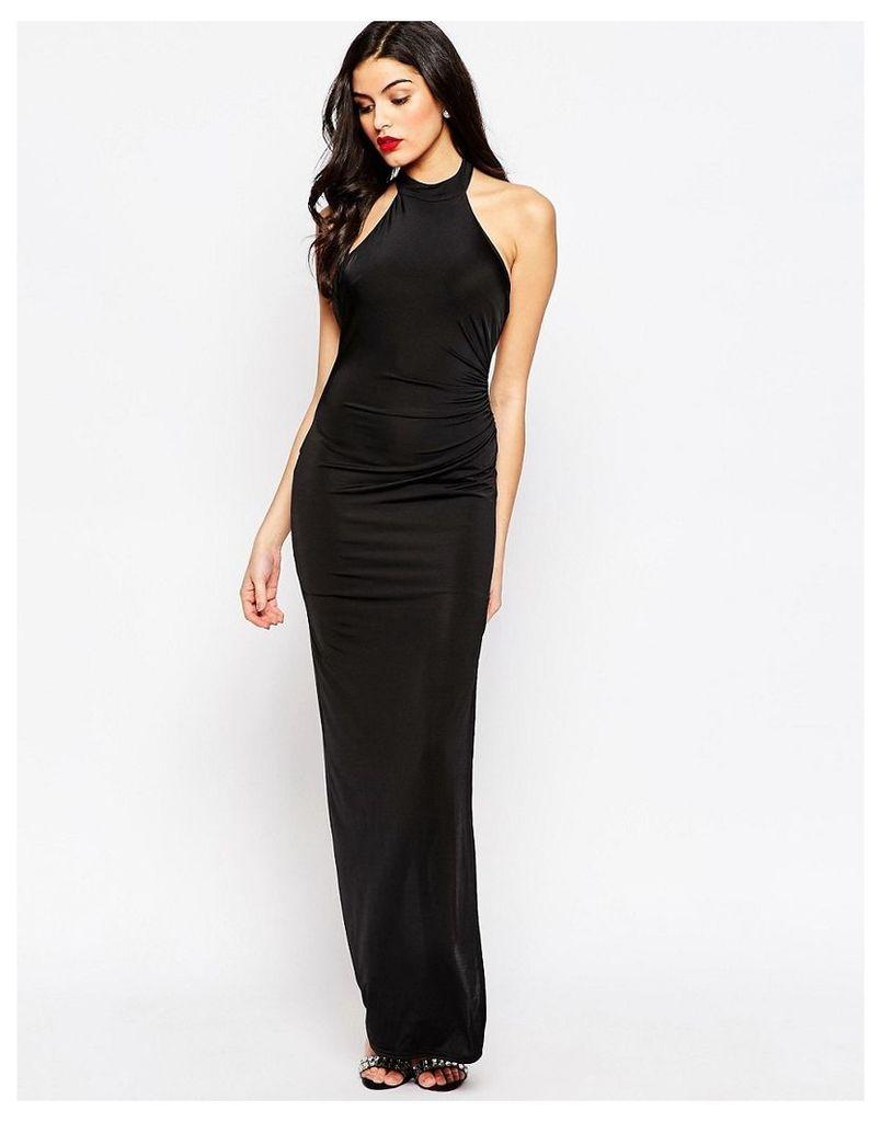 Sistaglam Hayden Maxi Dress wiith Side Split - Blk