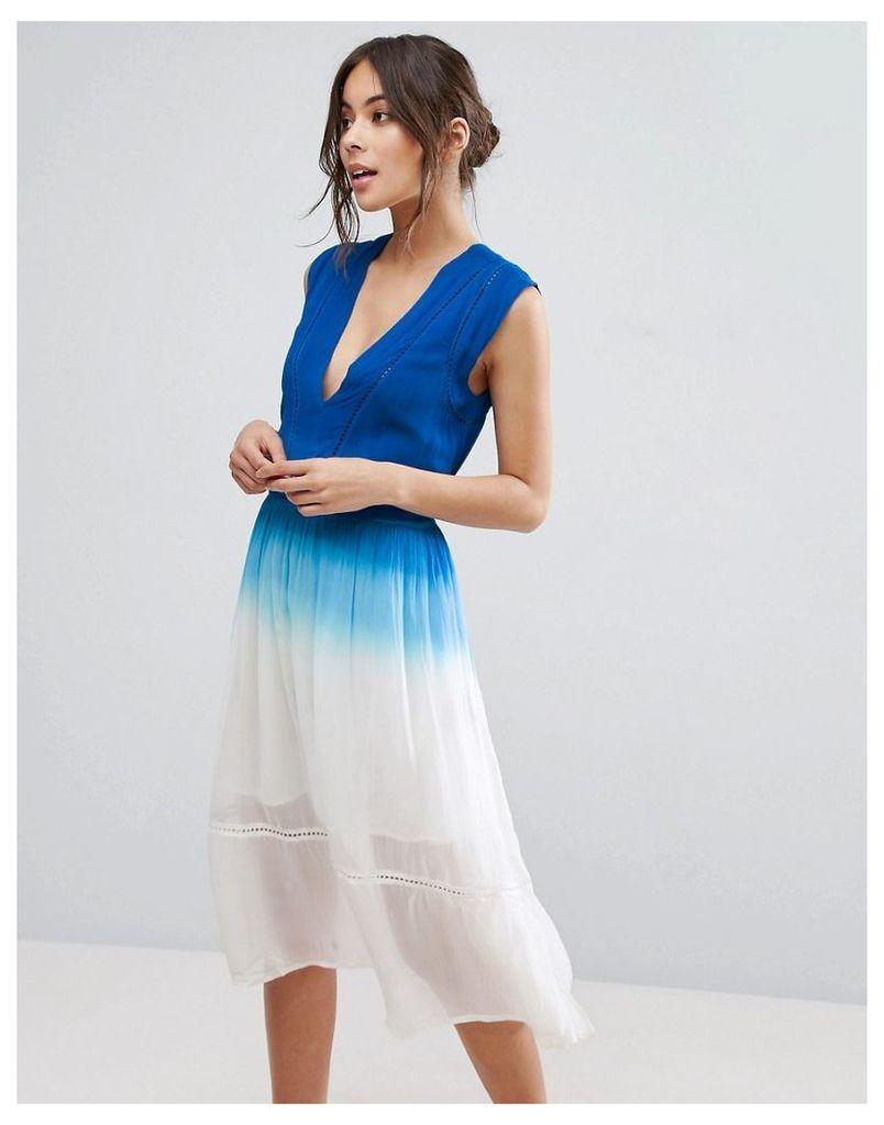 Adelyn Rae Ombre Dress - Blue/white