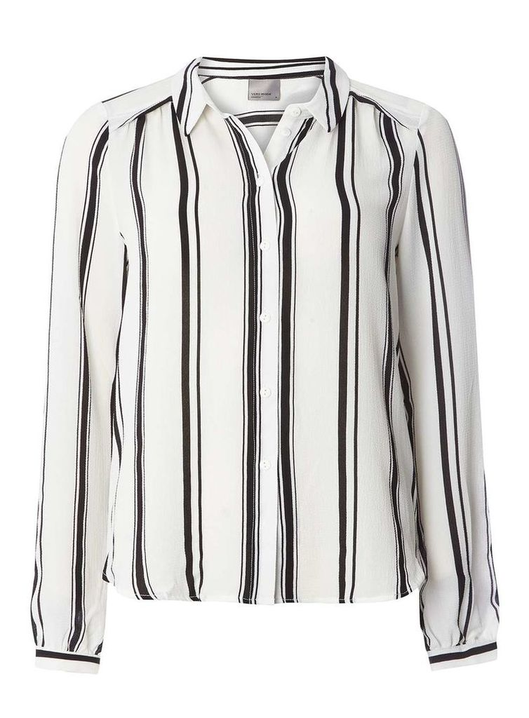 Womens **Vero Moda Stripe Shirt- White