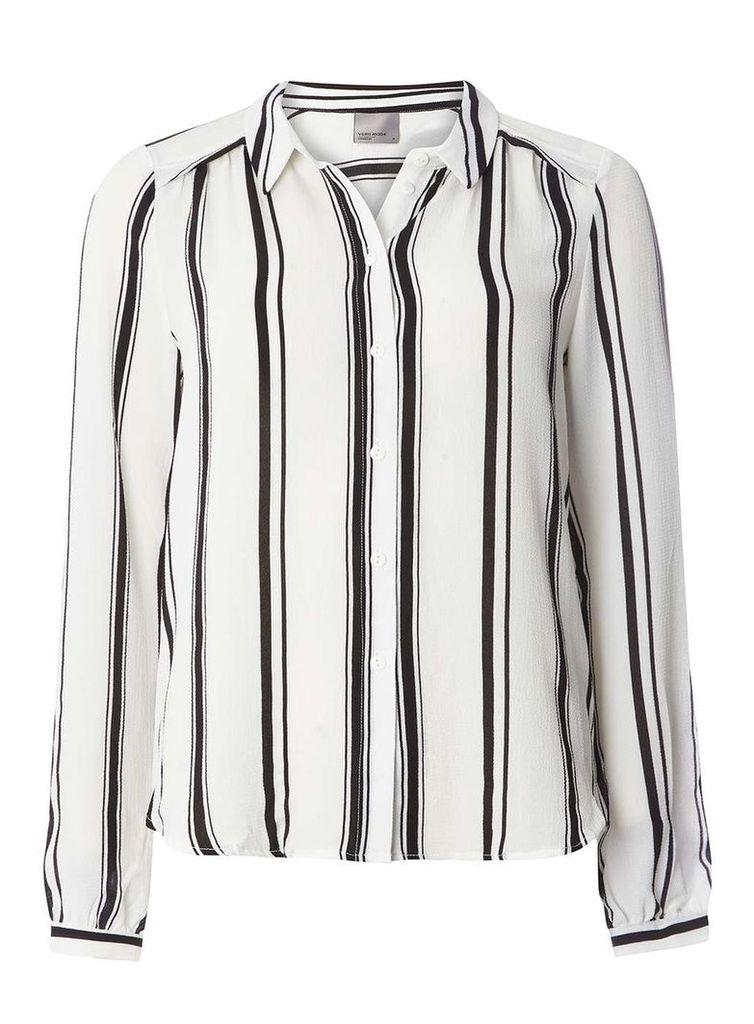 Womens **Vero Moda Stripe Shirt- White