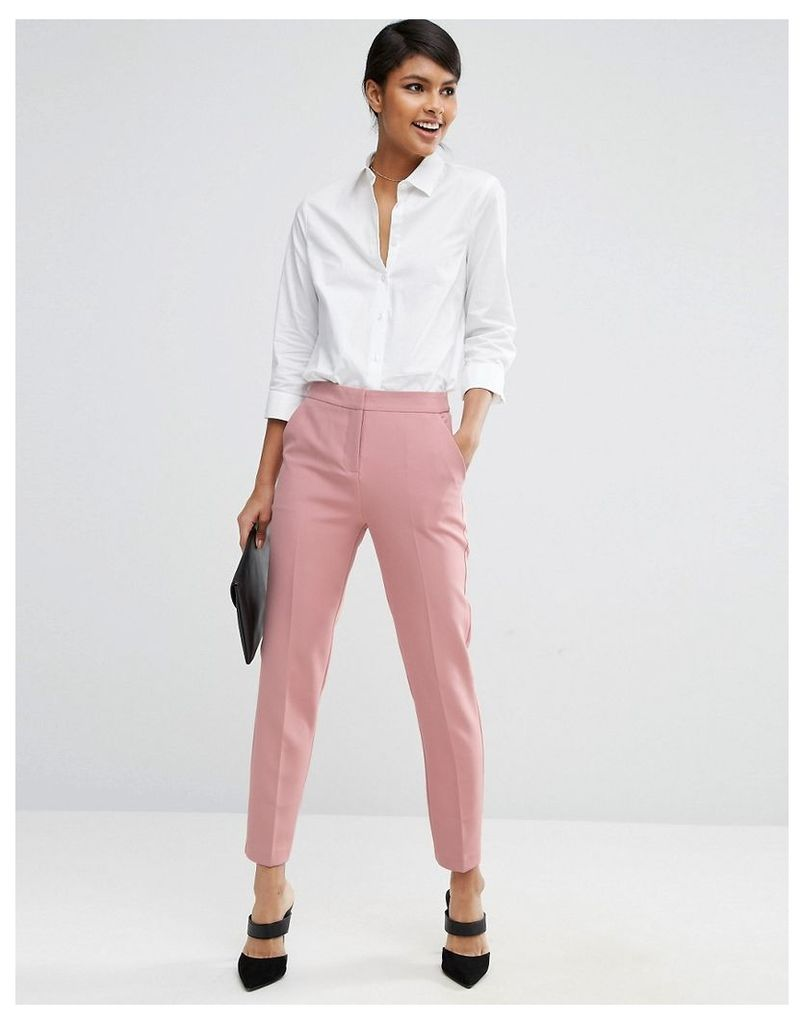 ASOS Premium Clean Tailored Trousers - Dusty pink