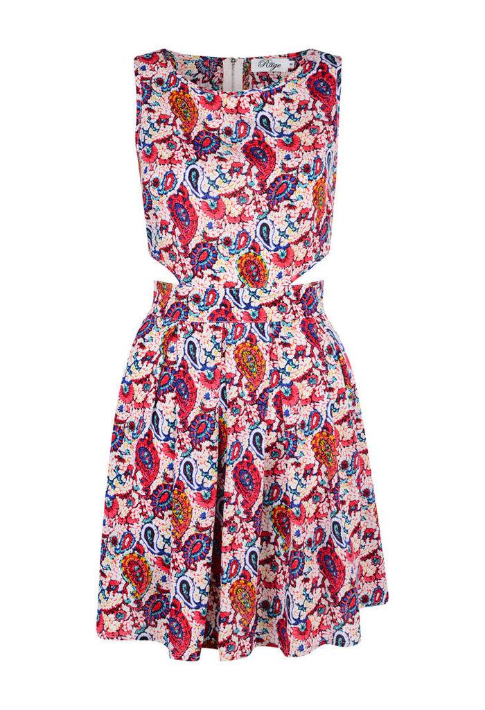 Paisley Cut Out Dress-14