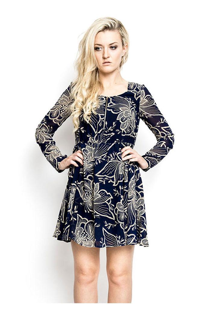 Madam Rage Chiffon Zip Dress-10