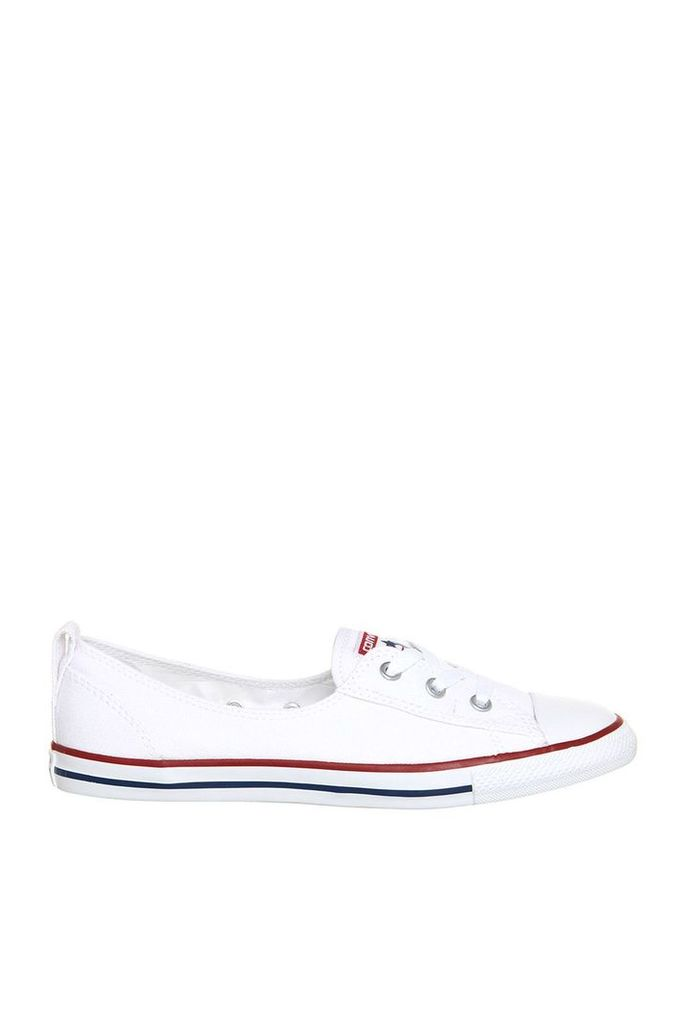 Womens **CTAS Ballet Lace Trainers by Converse supplied by Office - White, White