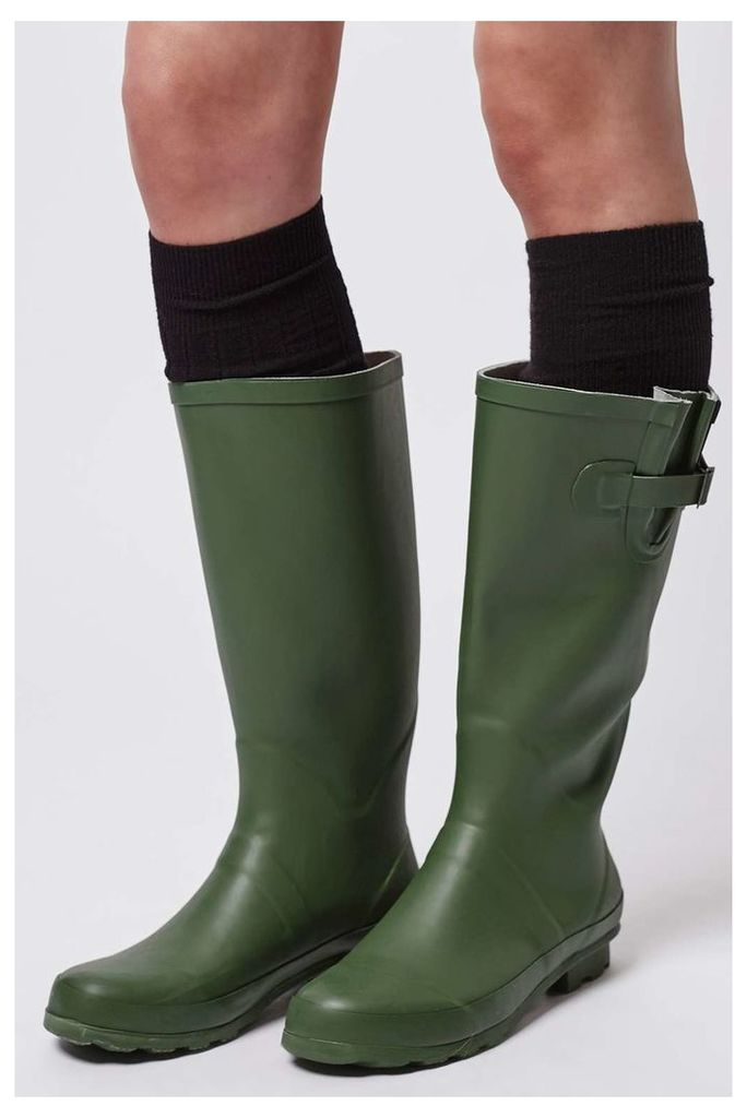 Womens JACOBSON Drizzle Wellies - Green, Green