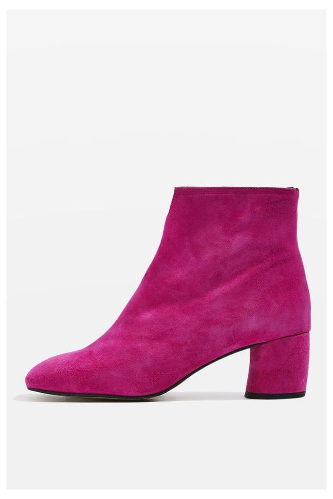 Womens MARILO Knotch Ankle Boots - Pink, Pink