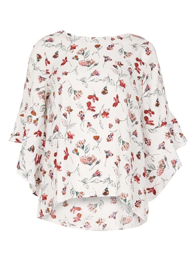 Womens *Izabel London Multi White Floral Blouse- White