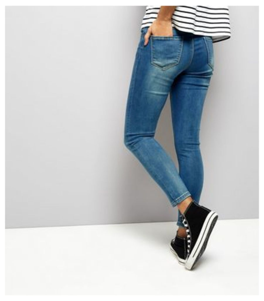 Petite Blue Super Soft Super Skinny Jeans New Look