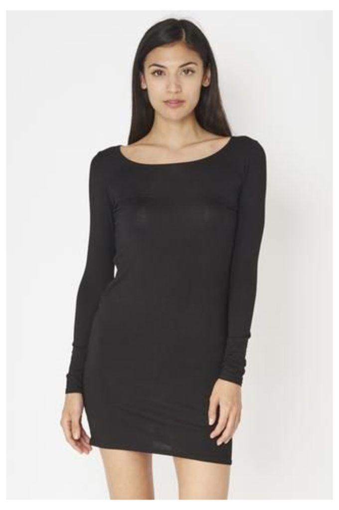 Simple Long Sleeved Jersey Dress