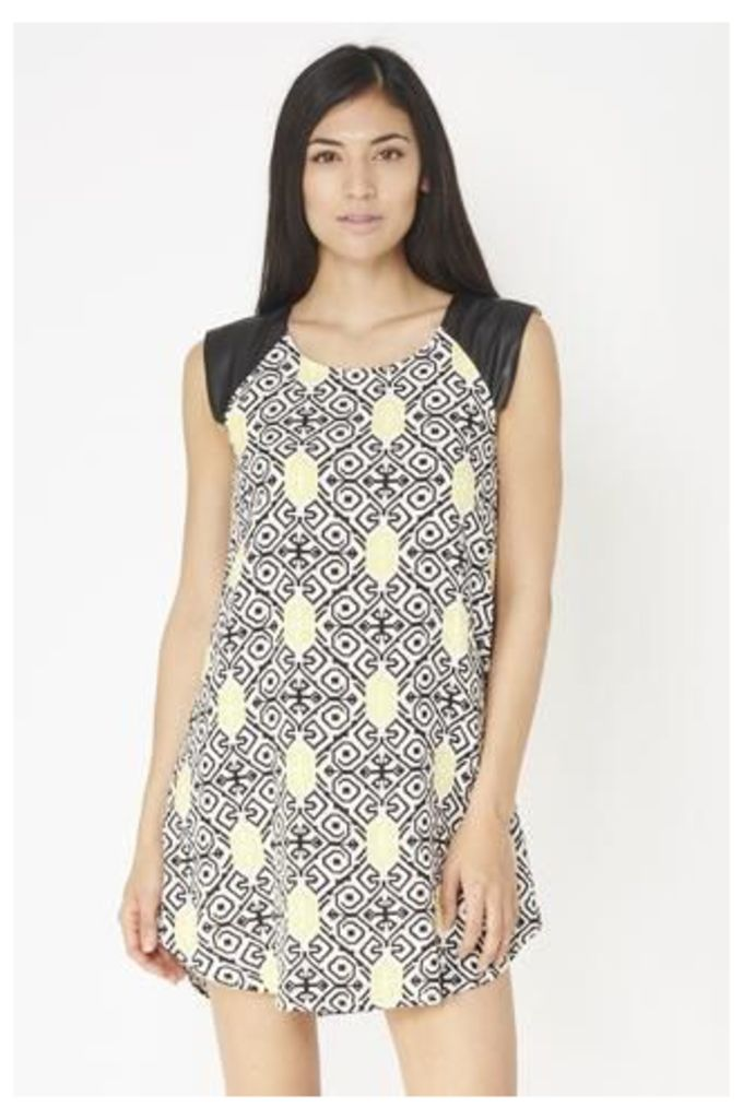 Graphic Aztec Print Tunic Dress