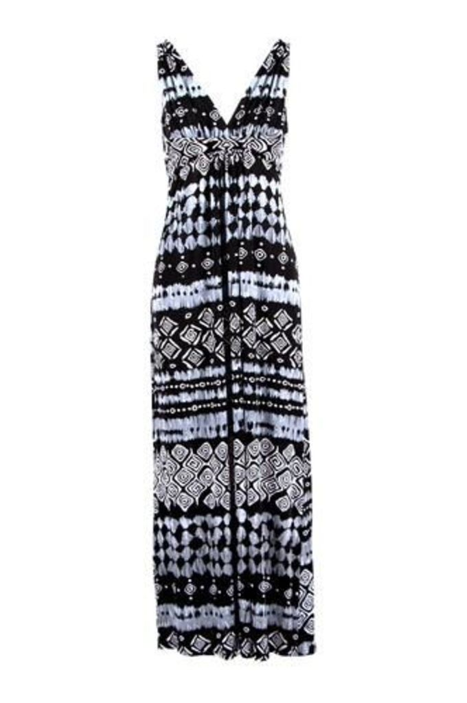 Maxi Dress With A Batik Inspired Print