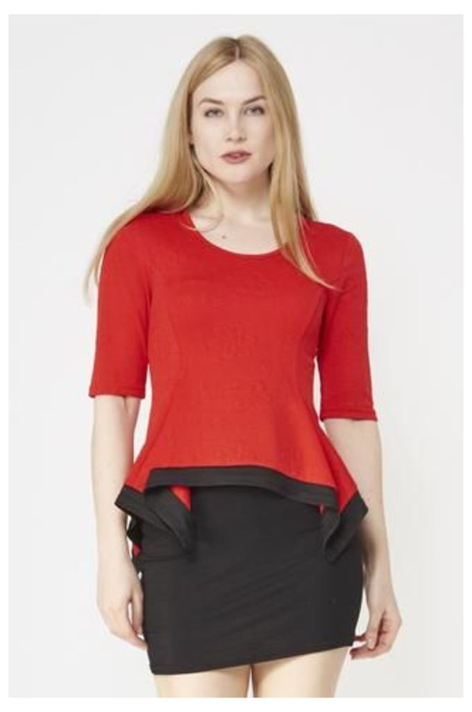 Fitted Top With Handkerchief Hem