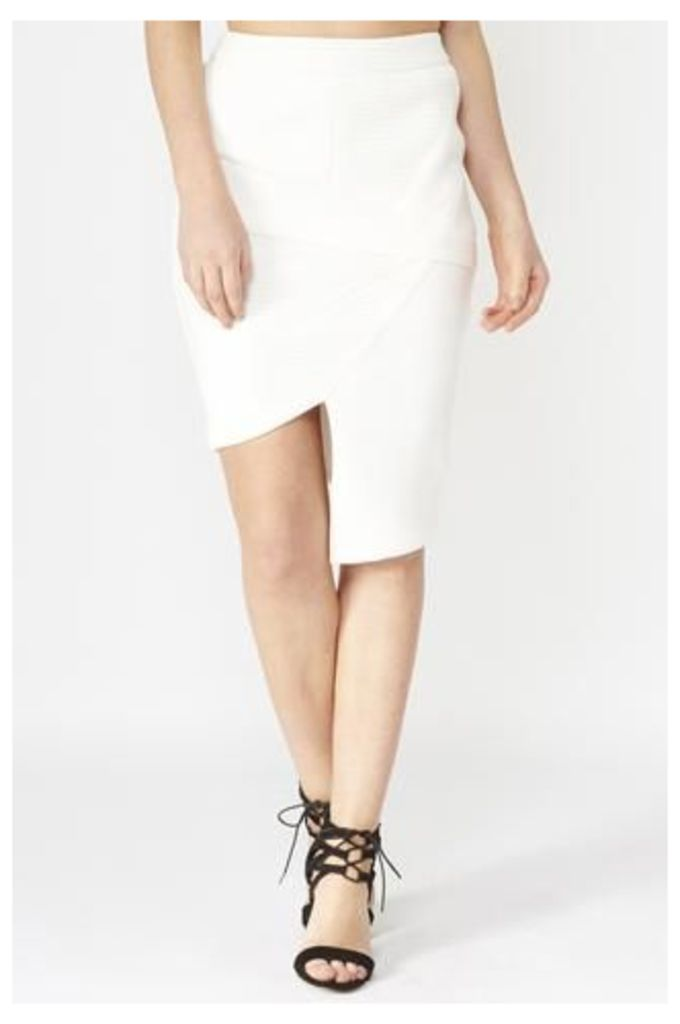 Asymmetric Skirt With Fold Over Detail