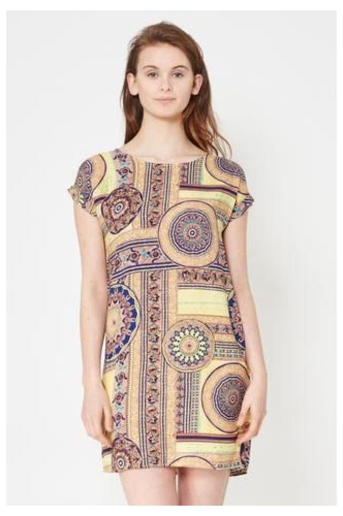 Optical Printed Shift Dress