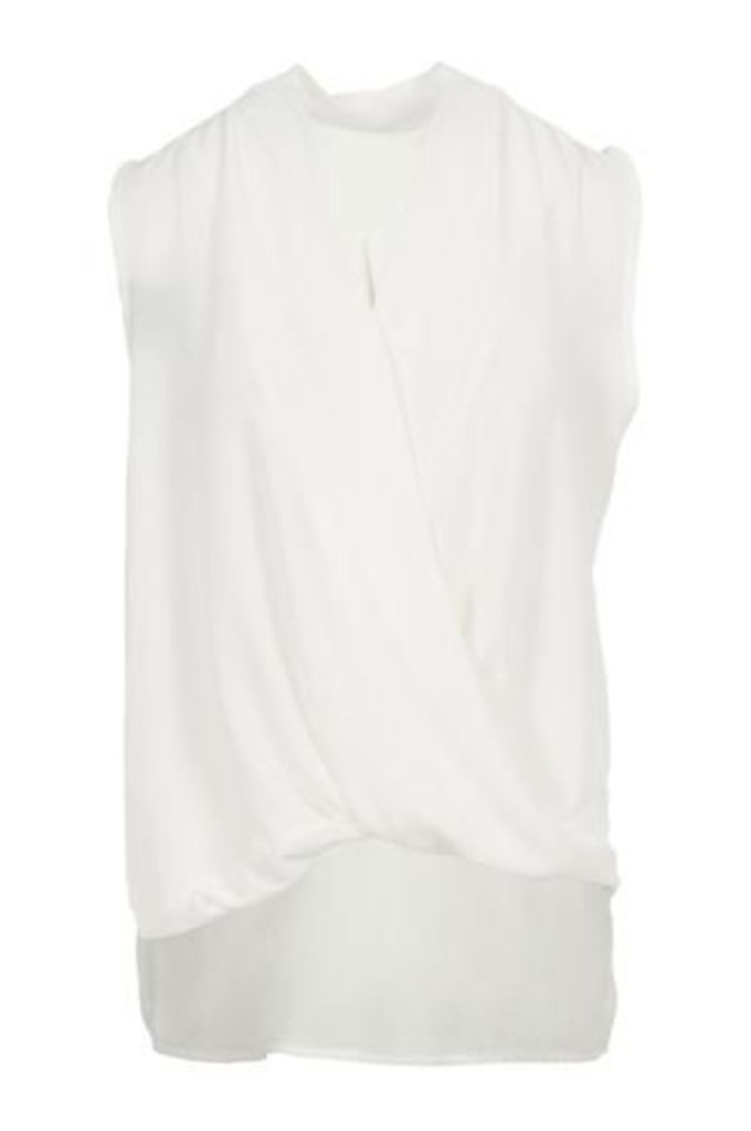 Draped Crossover Detail Top
