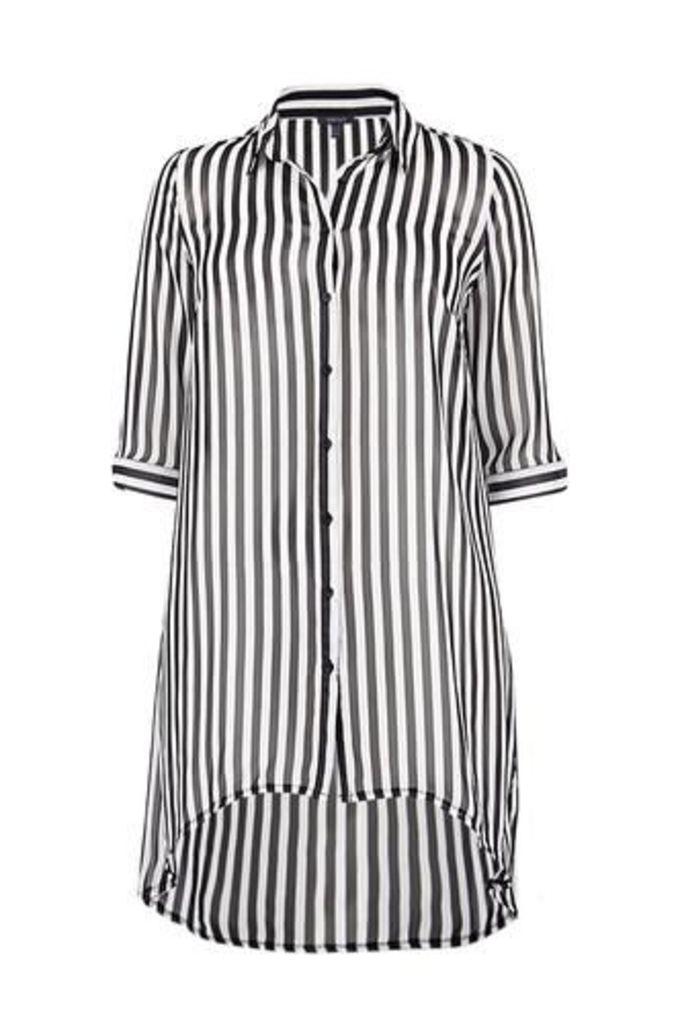 Plus Size Monochrome Shirt Dress