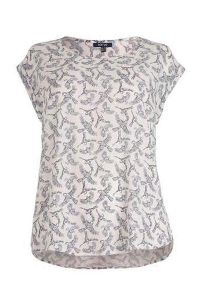Plus Size Migratory Birds Crepe T-Shirt