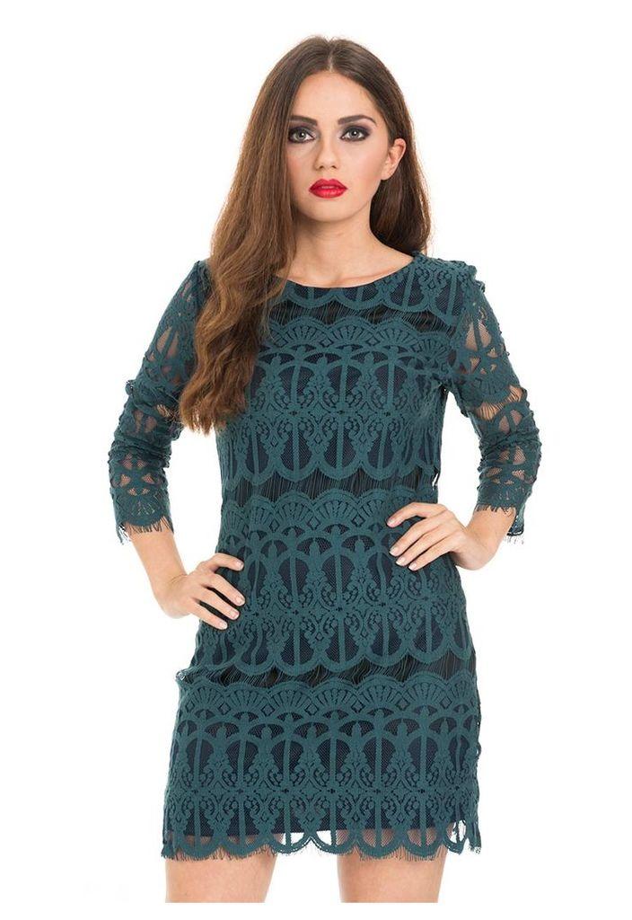 Lace Shift Dress-8
