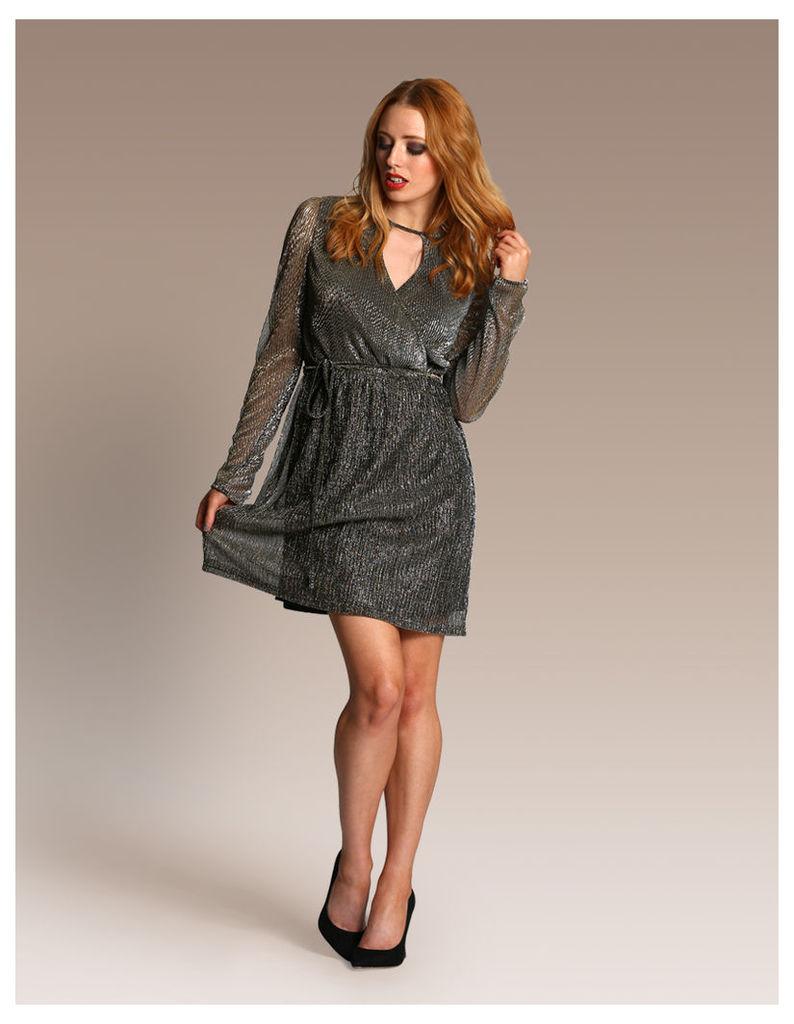 Metallic Cut-out Dress-14