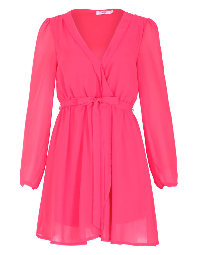 Pink Wrap Dress-10