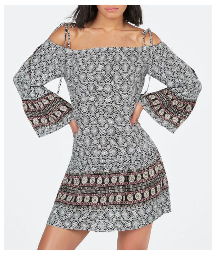 Cold Shoulder Boho Dress-12