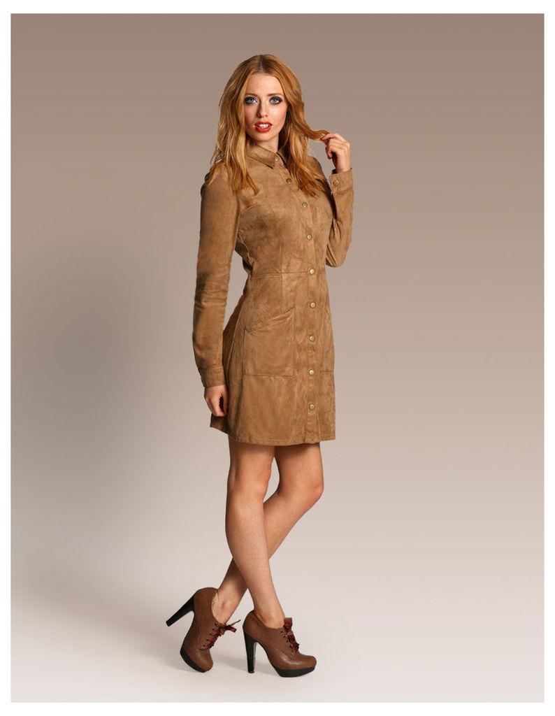 Suede Shirt Dress-12