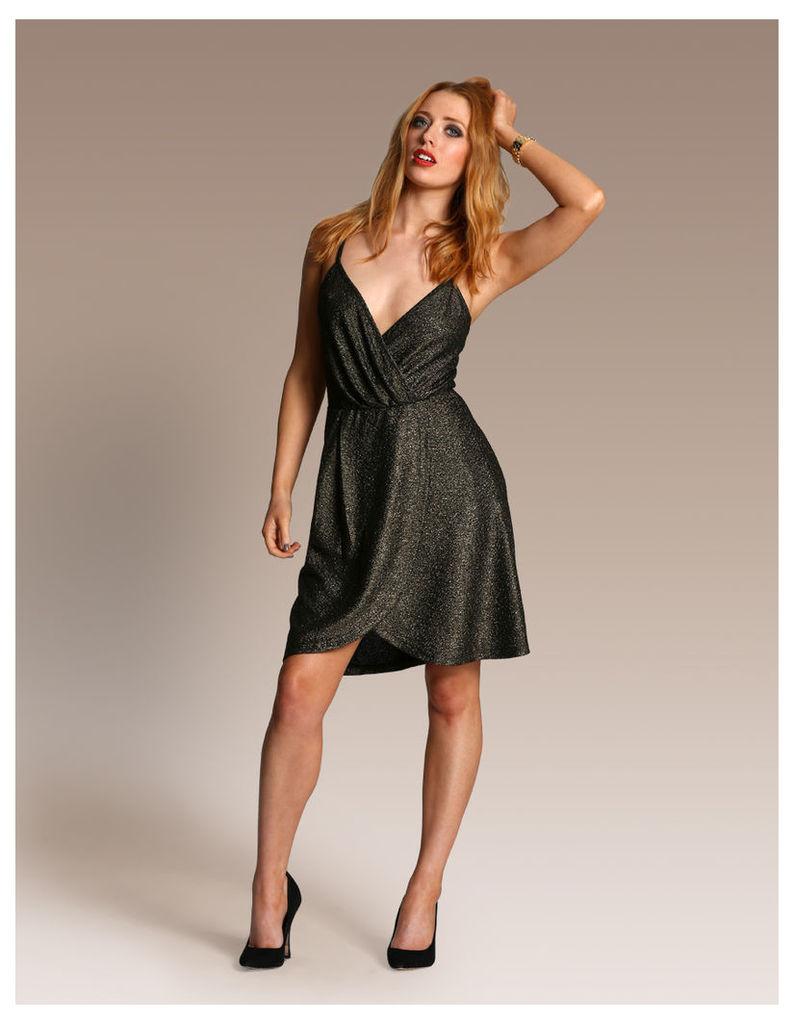 Strapy Metallic Dress
