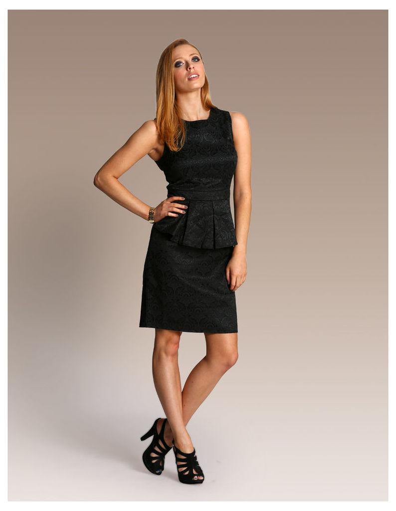 Peplum Jacquard Dress