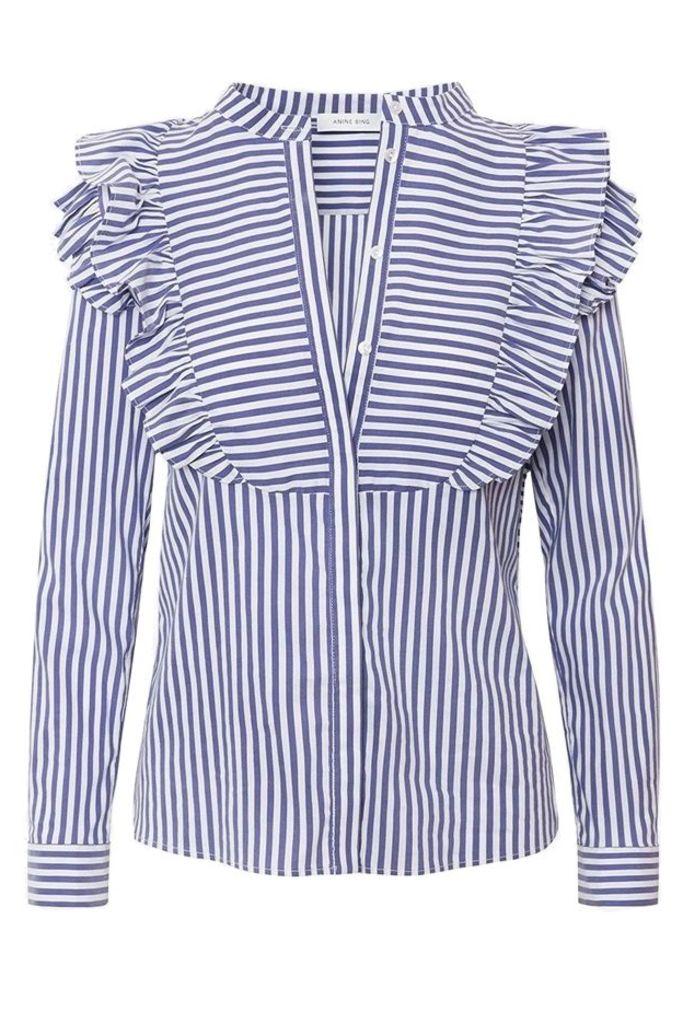 Eliza Blouse Blue Stripe