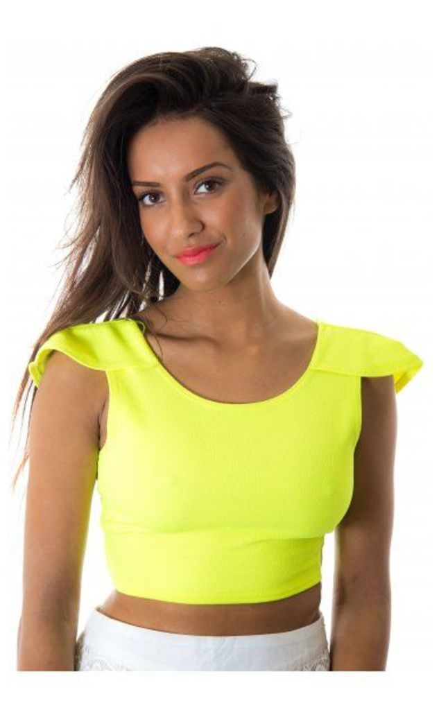 Madeline Neon Low Back Top In Lime
