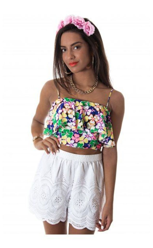 In A Daisy Frill Top