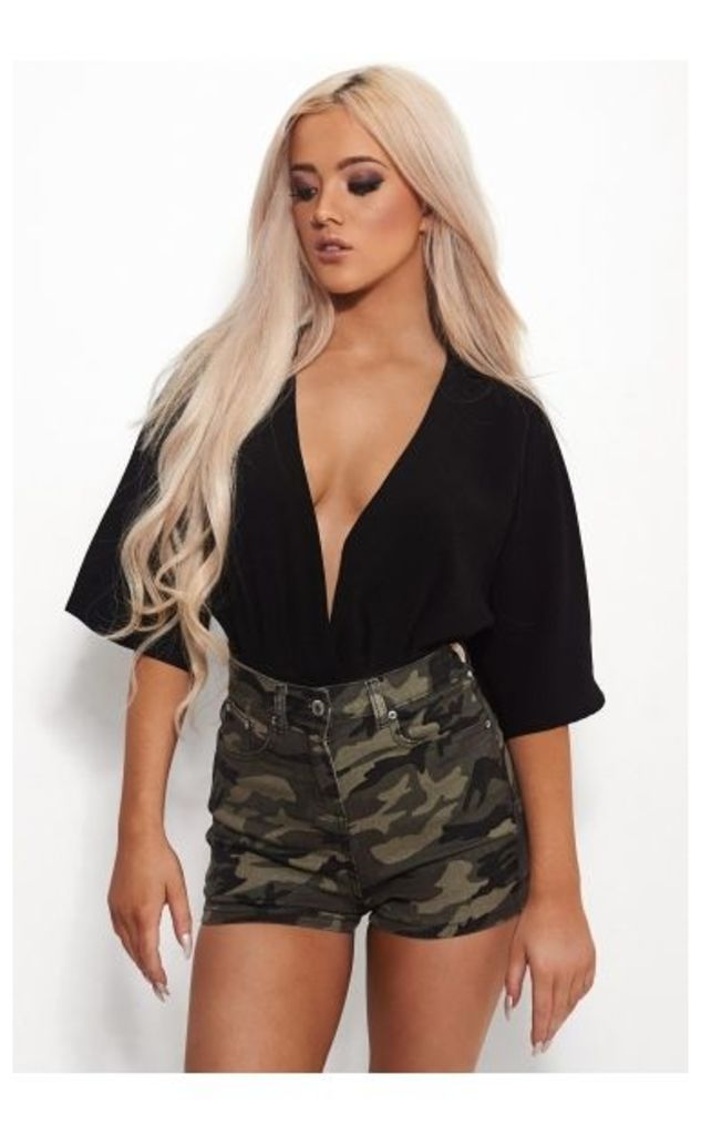 High Waisted Camouflage Shorts
