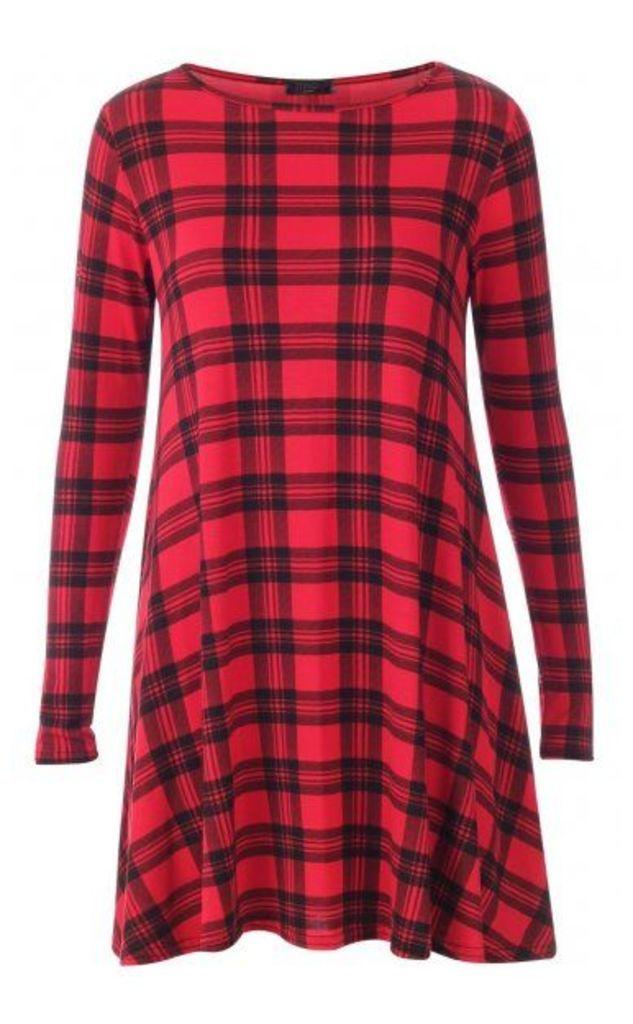Celebrity Tartan Swing Dress Plus Sizes Available